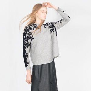 Zara plush sweatshirt🌸